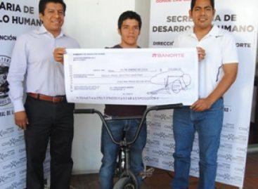 Participará joven oaxaqueño en ciclismo acrobático en Costa Rica
