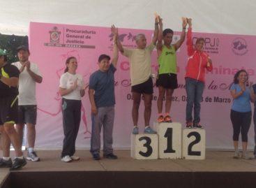 Casi mil atletas participaron en la Primera Gran Carrera por el Día Internacional de la Mujer, en Oaxaca