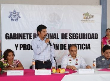 Instalan Gabinete de Seguridad en la Sierra Sur de Oaxaca; coordinarán acciones 14 municipios