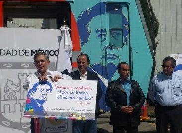 Lleva tren del Metro nombre de Octavio Paz; Nueva estrategia para impulsar lectura en el STC