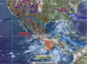 """Provoca Tormenta Tropical """"Amanda"""" lluvias en casi todo el país"""