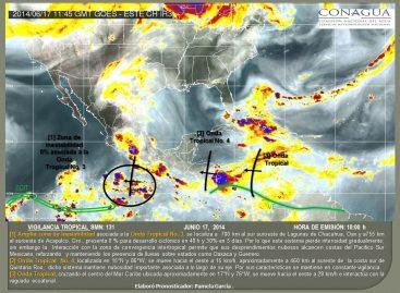 Potencial de lluvias y tormentas en la mayor parte del país