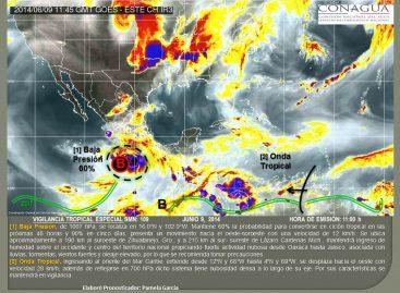 Potencial desarrollo ciclón en costas del Pacifico Central de México: SMN
