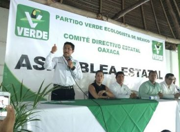 Eligen a Moisés Molina Reyes, como nuevo dirigente del PVEM en Oaxaca