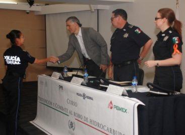 Concluyen Policía Federal y Pemex curso de capacitación para combatir robo de hidrocarburos