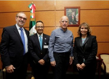 Inicia el gobernador del estado de California, Edmund G. Brown, visita de trabajo a México