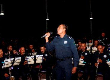 Inicia Banda de Música de la Policía Estatal conciertos en Oaxaca, por fiestas de la Guelaguetza