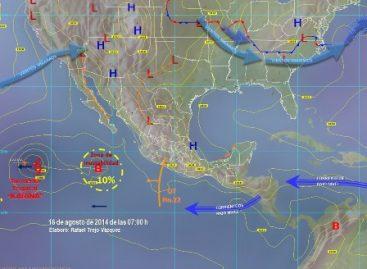 Avanza onda tropical 22 sobre Guerrero y Michoacán; provoca zona de inestabilidad