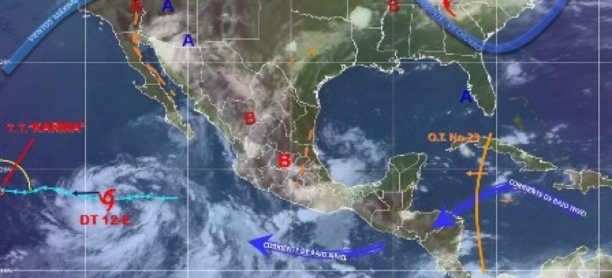 Potencial de lluvias fuertes a muy fuertes con tormentas eléctricas y posibilidad de granizo en el país