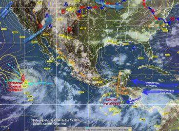 Mantendrán lluvias onda tropical número 23 y una zona de inestabilidad en el país
