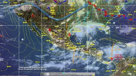 Lluvias intensas en el sur-sureste