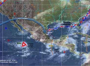 """Tormenta tropical """"Rachel"""" provocará lluvias, viento y oleaje que impactaran a BCS"""