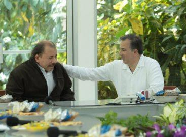 Analizan presidente de Nicaragua y canciller mexicano proyectos de cooperación conjunta