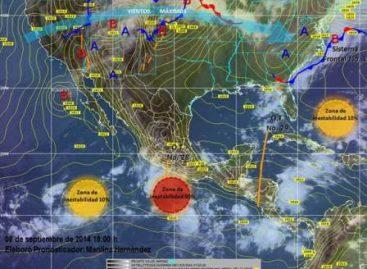 Lluvias muy fuertes a intensas en el litoral del Pacífico sur y central ante posible ciclón tropical