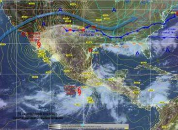 """Generan """"Odile"""" y """"Polo"""" potencial de lluvias fuertes a intensas en estados del Pacífico"""