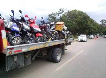 Asegura Policía Vial 216 motocicletas mediante operativo en Oaxaca