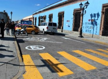 Emprenden acciones de ordenamiento vial en el primer cuadro de la ciudad de Oaxaca