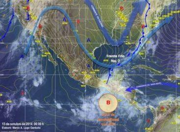 Evento de Norte y zona de inestabilidad con 40 por ciento de potencial ciclónico