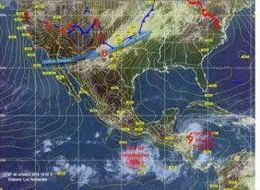 Zona de baja presión al sur de Oaxaca con potencial para desarrollo ciclónico