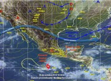 "Se desarrolla tormenta tropical ""Vance"", al sur de la Costa de Guerrero"