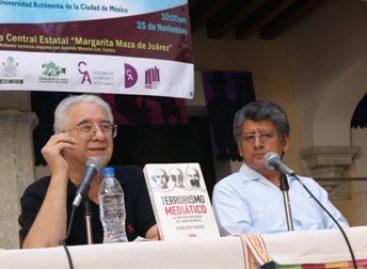 """Presenta Carlos Fazio """"Terrorismo mediático, la construcción social del miedo en México"""""""