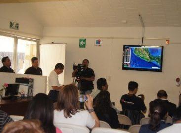 Exhibe Protección Civil monitoreo de fenómenos naturales en tiempo real, en Oaxaca