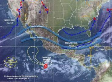 """""""Norte"""" con vientos de 60 km/h en el Golfo de México y de 80 km/h en el Istmo de Tehuantepec"""