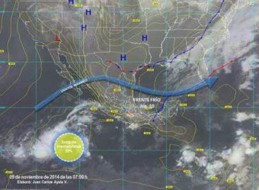 Potencial de lluvias muy fuertes en Tabasco y Chiapas, debido al sistema frontal frío 10