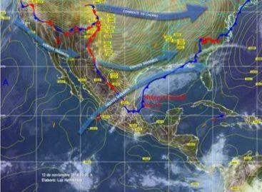 Prevén notable descenso de la temperatura y lluvias muy fuertes en el litoral del Golfo de México