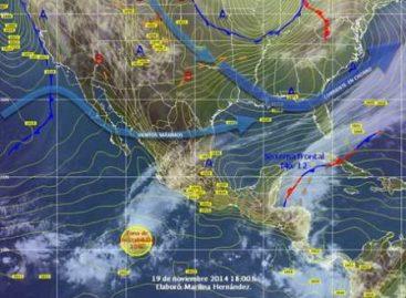 Lluvias fuertes en el sureste y en la Península de Yucatán del país, por el paso del frente 12