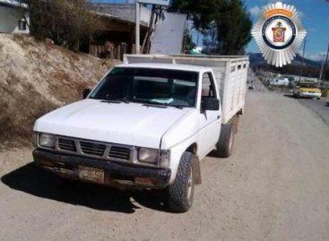 Recupera Policía Vial dos unidades de motor con reporte de robo en la Mixteca de Oaxaca