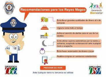 Recomiendan medidas de prevención del delito y autocuidado a reyes magos, en Oaxaca