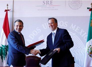 Acuerdan México y Líbano fortalecer sus vínculos comerciales y de inversión