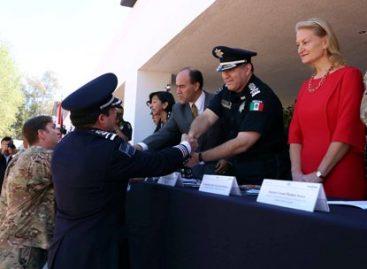 Clausuran cursos internacionales e inauguran sala de juicios orales en academia superior de Policía Federal