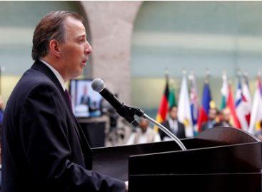 Asiste Meade Kuribreña a la ceremonia de transmisión del mando presidencial en Uruguay
