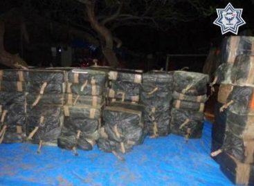 Asegura Policía Estatal cargamento de más de dos toneladas de cocaína en la Costa de Oaxaca