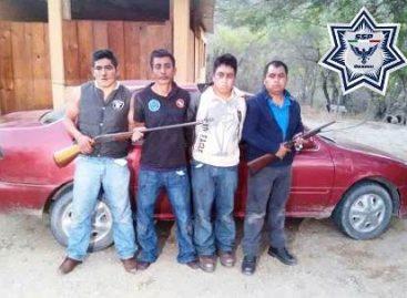 Detienen elementos de la Policía de Oaxaca a presunta banda de asaltantes carreteros