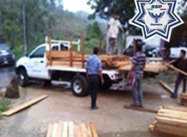 Aseguran elementos de la Policía Estatal y Profepa madera en Puerto Escondido, Oaxaca