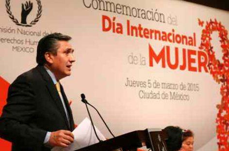 Lamenta CNDH conductas indignantes contra mujeres en México