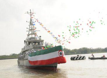 """Bota Secretaría de Marina buque Arm """"Uxmal"""" en Tampico, Tamaulipas"""