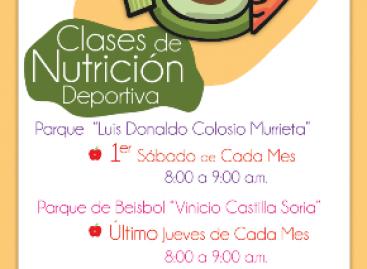 Imparten clases de nutrición en parque de beisbol y Ciudad de las Canteras, en Oaxaca