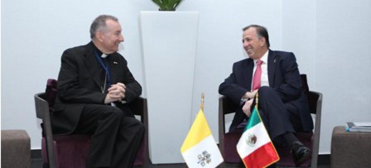 Acuerdan México y la Santa Sede ampliar espacios de colaboración
