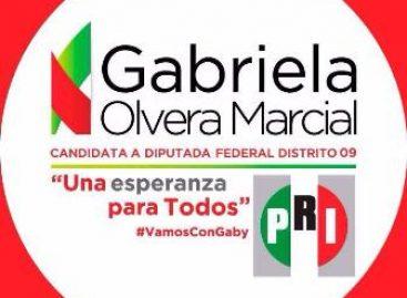 Se deslinda candidata a diputada del PRI, Gabriela Olvera, de camión con despensas que se accidentó
