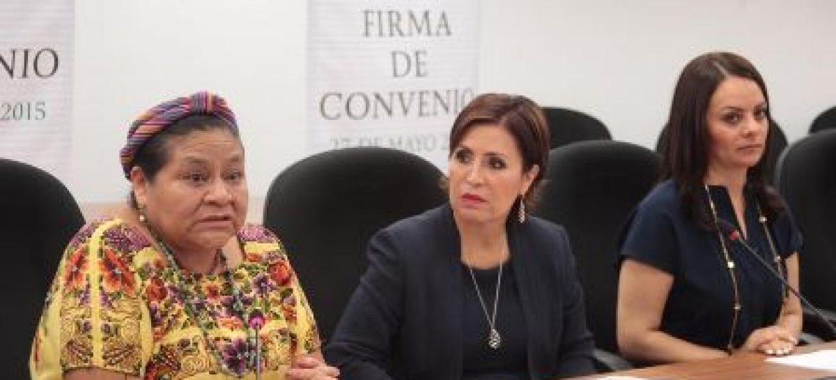 """Firman Sedesol y CDI convenio de colaboración con la asociación civil """"Menchú Tum"""""""