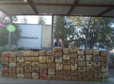 Asegura Policía Federal más de dos toneladas de marihuana en Baja California y Chihuahua