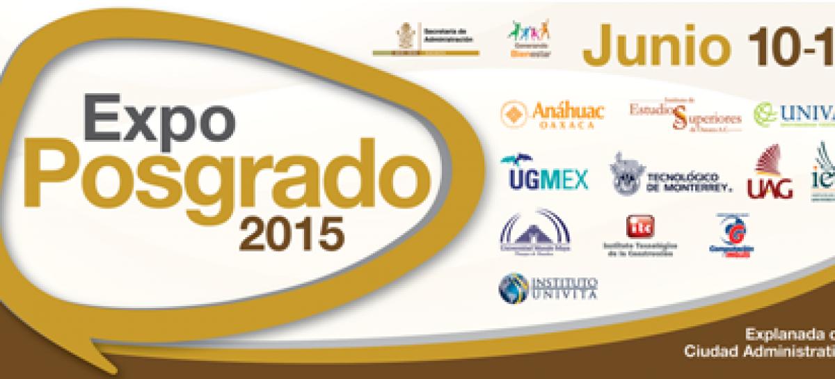 Presentarán oferta educativa con Expo Posgrado 2015 en Ciudad Administrativa de Oaxaca