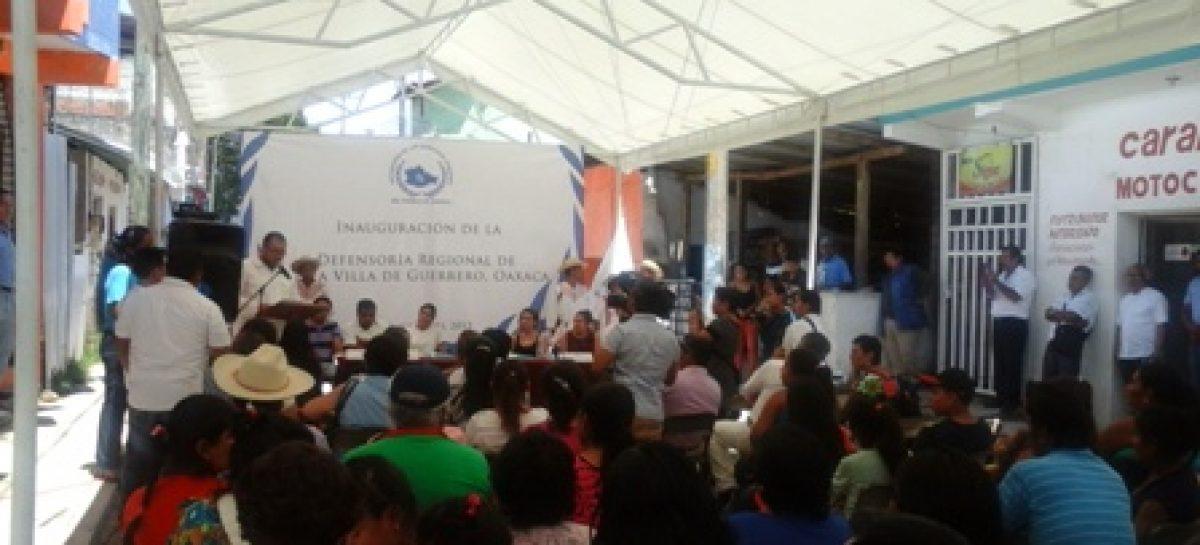 Abre Defensoría del Pueblo de Oaxaca nueva oficina regional en Putla Villa de Guerrero