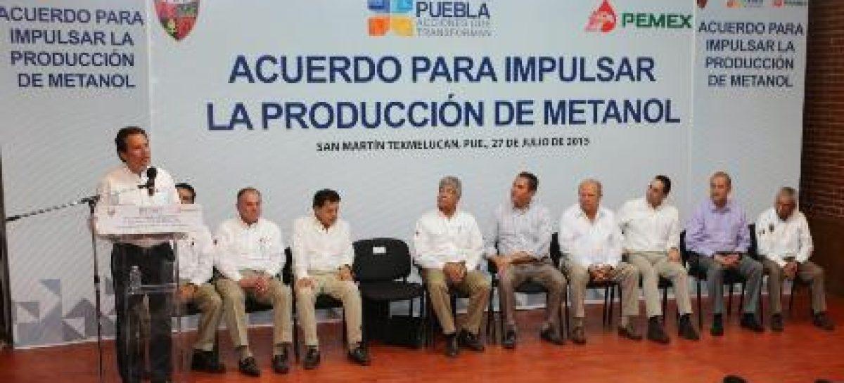 Suscribe Pemex acuerdo con gobierno de Puebla para impulsar la producción de metanol