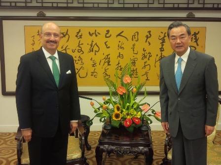Embajador mexicano - Ministro de Relaciones Exteriores de China