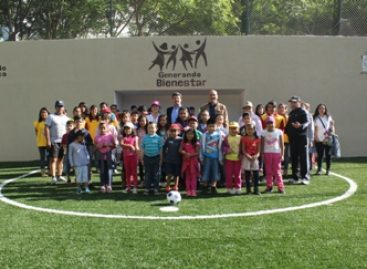Inauguran cancha de futbol rápido y Cursos de Verano 2015 en parques públicos de Oaxaca